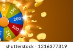 wheel of luck or fortune with... | Shutterstock .eps vector #1216377319