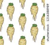 sugar beet. root. sketch.... | Shutterstock .eps vector #1216388989