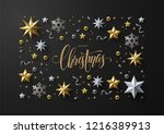 merry christmas and new year... | Shutterstock .eps vector #1216389913