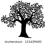 shaped silhouette of tree  ... | Shutterstock .eps vector #121639600