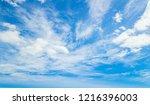 blue sky background | Shutterstock . vector #1216396003