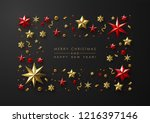 merry christmas and new year... | Shutterstock .eps vector #1216397146