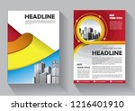 brochure template layout  cover ... | Shutterstock .eps vector #1216401910