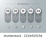 business infographics for data...   Shutterstock .eps vector #1216423156