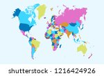 color world map vector | Shutterstock .eps vector #1216424926