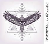 eye of providence with sacred... | Shutterstock .eps vector #1216426180