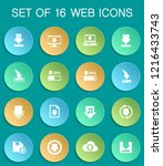 download web icons on colorful... | Shutterstock .eps vector #1216433743