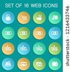 e commerce web icons on... | Shutterstock .eps vector #1216433746