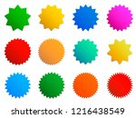 starburst gradient badges.... | Shutterstock .eps vector #1216438549