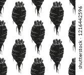 sugar beet. root. background ... | Shutterstock .eps vector #1216442596