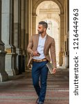 man street fashion.young east... | Shutterstock . vector #1216444963