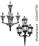 vintage lanterns   Shutterstock . vector #121645750