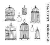 silhouette set for decorative... | Shutterstock .eps vector #1216457989