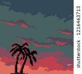 pixel background futuristic... | Shutterstock .eps vector #1216463713
