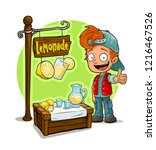 cartoon smiling redhead boy in... | Shutterstock .eps vector #1216467526
