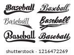 Set Of Inscriptiosn Baseball...