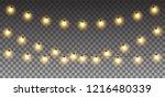 christmas lights.  christmas... | Shutterstock .eps vector #1216480339