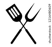 barbrcue tools vector ... | Shutterstock .eps vector #1216480609