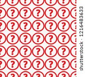 question mark icon. pattern... | Shutterstock .eps vector #1216483633