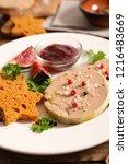 foie gras with gingerbread    Shutterstock . vector #1216483669