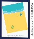 take me to the beach poster... | Shutterstock .eps vector #1216484566