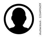 male profile avatar   Shutterstock .eps vector #1216493659