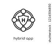 hybrid app icon. trendy modern... | Shutterstock .eps vector #1216506850
