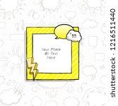 cartoon art styles. decorative... | Shutterstock .eps vector #1216511440