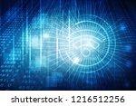 2d illustration wifi symbol | Shutterstock . vector #1216512256