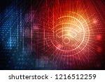 2d illustration wifi symbol | Shutterstock . vector #1216512259