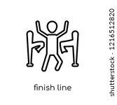 finish line icon. trendy modern ... | Shutterstock .eps vector #1216512820