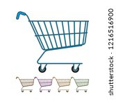 isolated shopping cart color... | Shutterstock .eps vector #1216516900