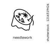 needlework icon. trendy modern...   Shutterstock .eps vector #1216519426