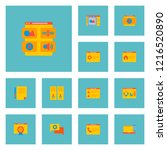 set of wd icons flat style... | Shutterstock . vector #1216520890