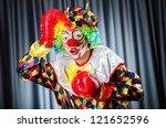 Funny Clown In The Studio...