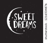 sweet dreams good night... | Shutterstock .eps vector #1216534876