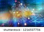 binary code 3d illustration.... | Shutterstock . vector #1216537756