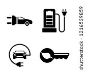 electric car. simple related... | Shutterstock .eps vector #1216539859