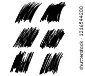 vector set of grunge brush... | Shutterstock .eps vector #1216544200