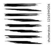 vector set of grunge brush... | Shutterstock .eps vector #1216544206