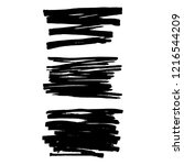 vector set of grunge brush... | Shutterstock .eps vector #1216544209
