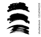 vector set of grunge brush... | Shutterstock .eps vector #1216544233