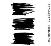 vector set of grunge brush... | Shutterstock .eps vector #1216544236