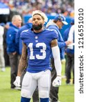 Small photo of EAST RUTHERFORD, NEW JERSEY - OCTOBER 28, 2018: Odell Beckham Jr. as the Washington Redskins take on the New York Giants at MetLife Stadium in Rutherford, New Jersey on October 28, 2018.