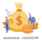 concept save time  money saving.... | Shutterstock .eps vector #1216552759