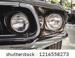 Classic Car Background. Close...