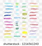 vector markers. drawn yellow... | Shutterstock .eps vector #1216561243