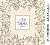 background with tosaka ... | Shutterstock .eps vector #1216561600
