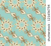 seamless vintage floral pattern ... | Shutterstock .eps vector #121656754