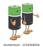 batteries in the form of men....   Shutterstock .eps vector #1216568326